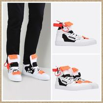 新作【Off-White】Off Court レザー スニーカー WHITE/BLACK
