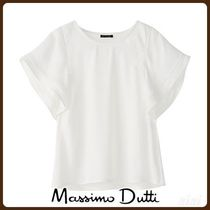 MassimoDutti♪COMBINED TOP WITH GATHERING AND RUFFLES