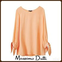 MassimoDutti♪CONTRASTING T-SHIRT WITH BOW