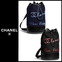 CHANEL 2018-19AW Sac a dos バックパック ウール & カーフ