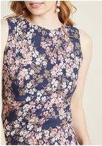 epic evening floral sheath dress
