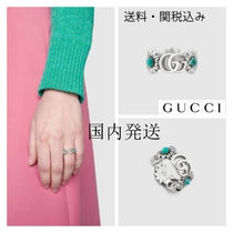 GUCCI/ Double G flower ring/ ダブルGフラワーリング