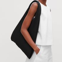"""COS""PLEATED FABRIC SHOPPER BLACK"