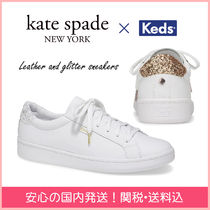 kate spade new york(ケイトスペード) スニーカー 【国内発送】kedsコラボ leather and glitter sneakers セール