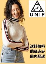 UNIF Clothing  ニット セーター BADSPORT MOCK NECK 白