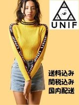 UNIF Clothing  ニット セーター BADSPORT MOCK NECK 黄