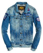 セレブ愛用【Superdry】Rogue Patch TruckerDenim Jacket 追跡有