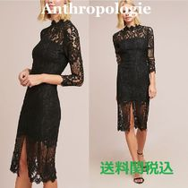送関込Anthropologie☆Antoinette Lace Dress黒レースドレス
