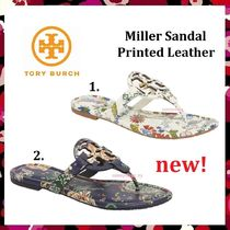 セール 新作 人気 Tory Burch Miller Sandal Printed Leather