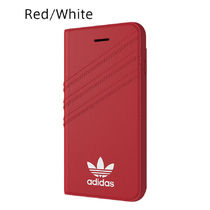 adidas iPhone8 ケース OR Booklet case Royal Red / White