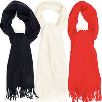 Moncler Wool Scarf with fringes 200x50