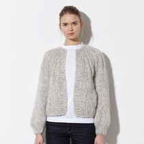 Maiami(マイアミ) カーディガン 【 Maiami 】Mohair Pleated Cardigan, Short