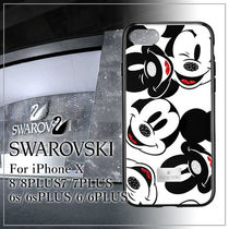 VIP価格【SWAROVSKI】MICKEY FACE iPhoneX/8/7/6s/6/PLUS