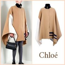 【関税送料込】NEW◆Chloe◆Color-block wool cape