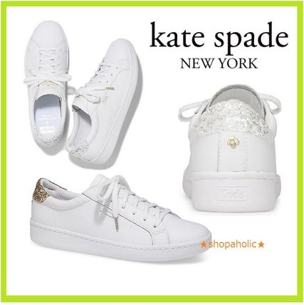 kedsコラボ 選べる2色 leather and glitter sneakers セール