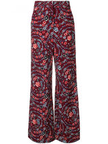 新作★ Printed Flare Trousers
