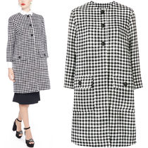 18-19AW DG1746 HOUNDSTOOTH CHECK WOOL COAT