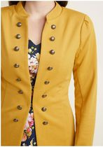 glam believer knit jacket in mustard