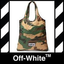 "【OFF-WHITE】""CAMOUFLAGE""プリント / キャンパストートバッグ"