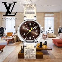 18AW Louis Vuitton(ルイヴィトン) TAMBOUR BRUN 28 ダミエ 時計