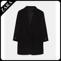 ★ZARA★ザラ  BLAZER WITH BUTTONED SLEEVES