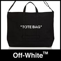 "【OFF-WHITE】""TOTE BAG""プリント / 特大キャンパストートバッグ"