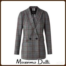 MassimoDutti♪SLIM FIT CHECKED WOOL BLAZER