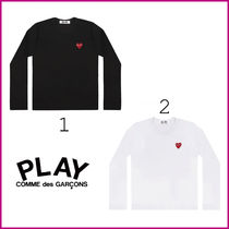COMME des GARCONS Ladys レッドプレイ長袖Tシャツ