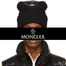 Moncler★2018AW★ロゴワッペン★ポケットビーニー★黒★送料込