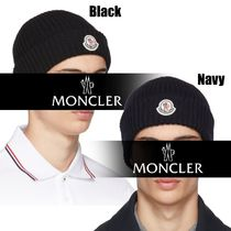 Moncler★18AW★ロゴワッペン★ウールビーニー★2色展開★送料込