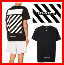 関税負担★18SS【Off-White】★ DIAG TEMPERATURE S / S TEE ★