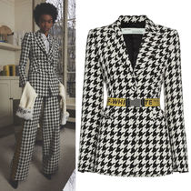 18-19AW OW072 LOOK2 HOUNDSTOOTH WOOL BLEND JACKET