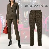 【18AW】★Dries Van Noten★printed tailored trousers