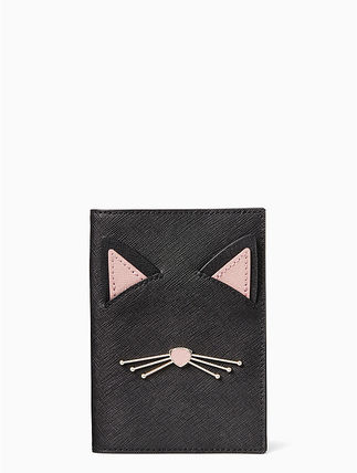 【Kate Spade】キャットアップリケが可愛い♪パスポートケース