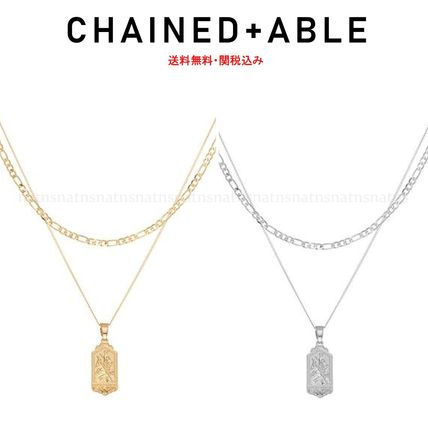 Chained & Able ネックレス・チョーカー 送料関税無料 Chained & Able☆ミニタグ&チェーンネックレス*2色