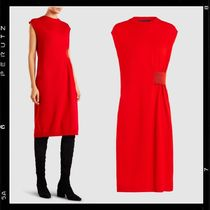【Proenza Schouler】Belted Wool-Blend Midi Dress