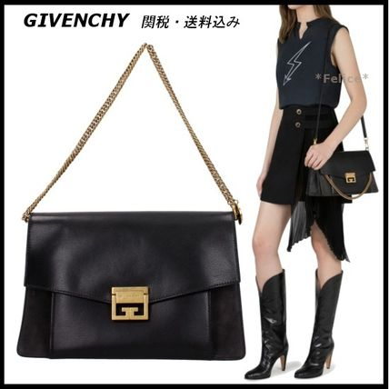 *GIVENCHY*Leather & Suede Medium GV3 Bag 関税/送料込