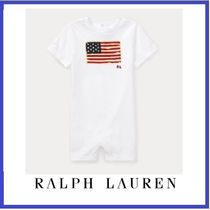 ☆Ralph Lauren☆ 3-12ヶ月☆ Flag Cotton Jersey Shortall