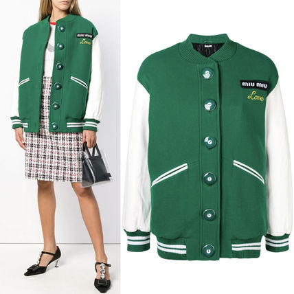 MM587 OVERSIZED VARSITY JACKET WITH LOGO PATCH