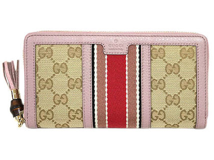 outlet store e2bef be77b グッチ GUCCI ジッピー 長財布 バンブータッセル GG ピンク