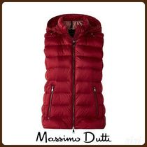 MassimoDutti♪FEATHER GILET WITH DETACHABLE HOOD
