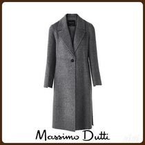 MassimoDutti♪WOOL COAT WITH VENTS