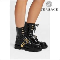 VERSACE(ヴェルサーチ)★Leather Ankle Boots with Studs