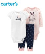 【Carter's】3点セット★ I♡Daddyベビースーツ