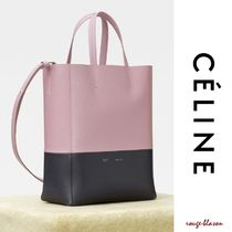 【国内発送】CELINE SMALL CABAS IN BICOLOUR GRAINED CALFSKIN