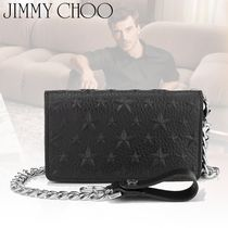 18-19AW☆JIMMY CHOO☆MOLTON スターエンボス チェーン 財布