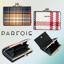 【NEW COLLECTION☆】Check Wallet【人気のがま口♪】
