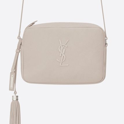 780cee68323 ... Saint Laurent ショルダーバッグ・ポシェット LOU CAMERA BAG IN ICY WHITE SMOOTH LEATHER(2  ...