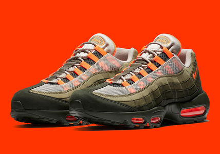 Men's Nike Air Max 95 OG Olive And Orange