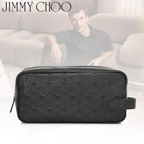 18-19AW☆JIMMY CHOO☆ODELL スターエンボス トラベルバッグ